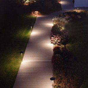 Фото - Освітлення тротуару дощатого