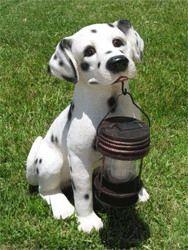 Фото - Декоративна собачка з ліхтарем