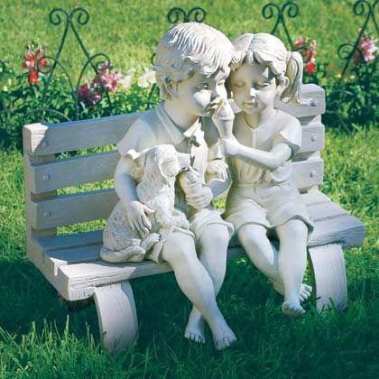 Фото - Чарівна парочка - романтичні фігурки для саду