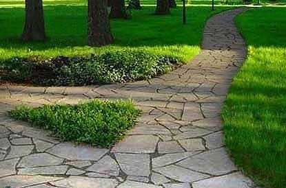 Фото - Доріжки вимощені натуральним каменем