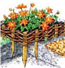 Фото - Принцип плетіння садових огорож