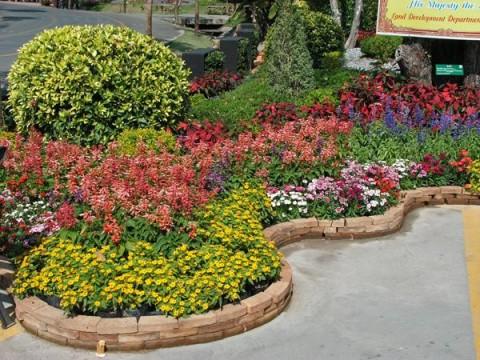 Фото - Цегляні огорожі для квітників і клумб