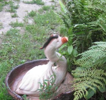 Фото - фігурка качки в дизайні дачного водойми