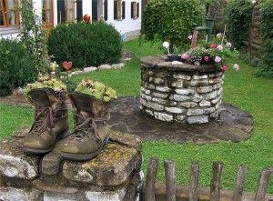Фото - традиційні риси вінтажного дизайну саду