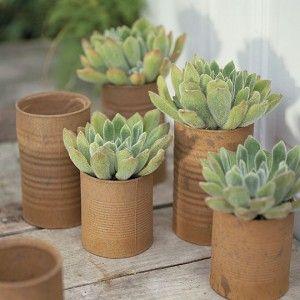 Фото - квіткові горщики в стилі ретро для саду