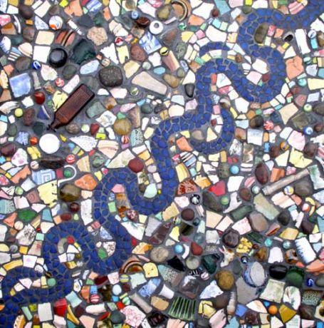 Фото - мозаїка зі змійкою