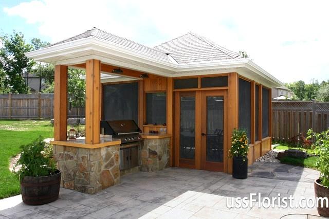 Фото - Дизайн літньої кухні на дачі