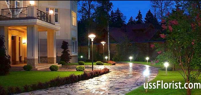 Фото - світильники для ландшафтного освітлення