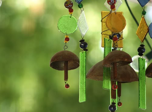 Фото - скляні і металеві повітряні дзвіночки