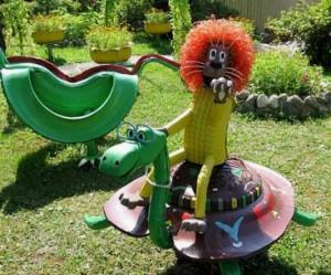 Створюємо вироби зі старих шин для саду