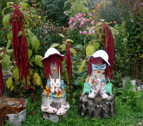 Фото - садову скульптуру можна зробити своїми руками