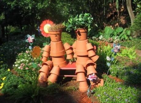 Фото - скульптура в неформальному саду