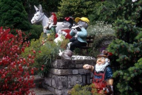 Фото - популярна тема садових гномів