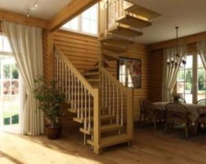 Способи облаштування сходів на другий поверх у приватному будинку