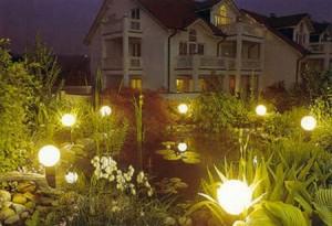Вибираємо освітлення для звичайного і зимового саду: варіанти функціональної та декоративного підсвічування