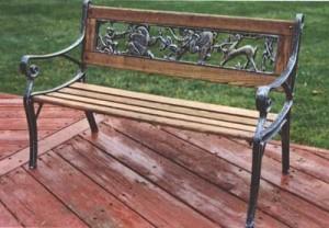 Фото - Поєднання литих чавунних деталей і деревини
