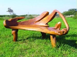 Фото - Дерев'яні дачні лавка з природного корчі