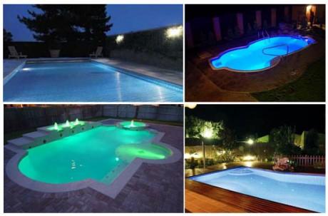 Фото - освітлення вуличного басейну