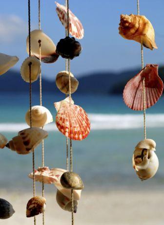 Фото - Підвіска для саду з морських черепашок