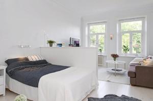 Зонування і дизайн інтер'єру вітальні-спальні в одній кімнаті