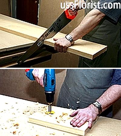 Випилювання деталей конструкції шпаківні – фото