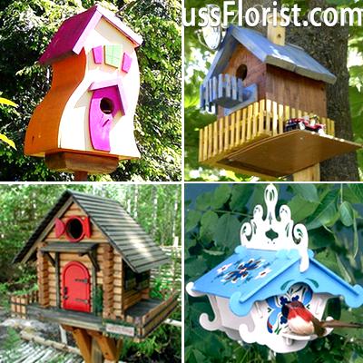 Декоративно оформлені пташині будиночки – фото