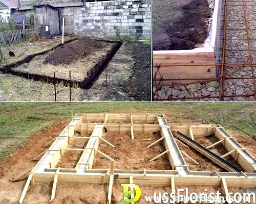Стрічковий фундамент під баню