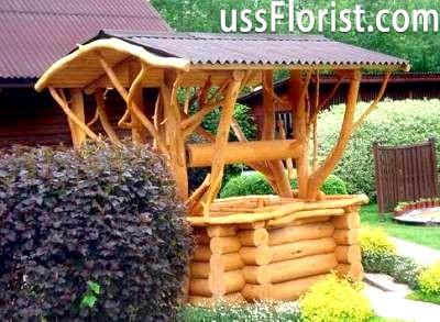 Найчастіше дачі будують компактними, з цільного дерева або різних типів бруса – фото