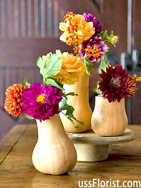 Осіння композиція з квітів
