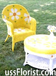 Плетені садові меблі