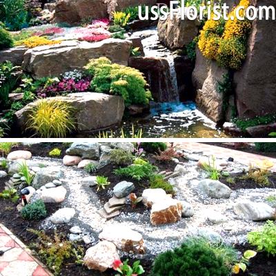 Ділянки під кам'яний квітник – фото