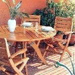 Садова меблі дерев'яні