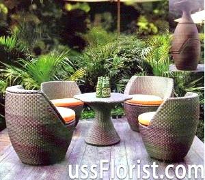 Садові меблі з штучного ротанга