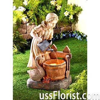 Садові фонтани для дачі з полистоуна