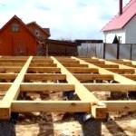 Будівництво фундаменту під лазню столбчатого