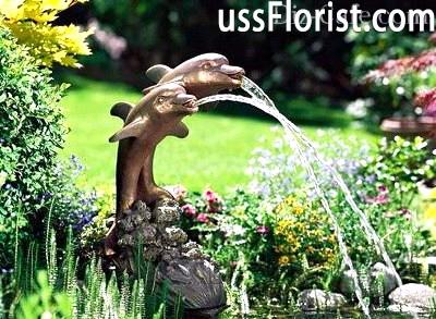 Декоративний однострйний фонтан – фото